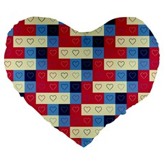 Hearts 19  Premium Heart Shape Cushion