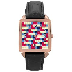 Hearts Rose Gold Leather Watch