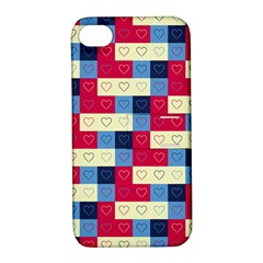 Hearts Apple iPhone 4/4S Hardshell Case with Stand