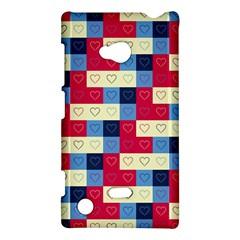 Hearts Nokia Lumia 720 Hardshell Case
