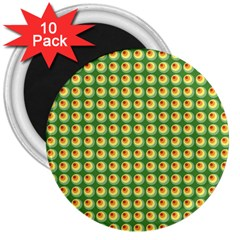 Retro 3  Button Magnet (10 Pack)
