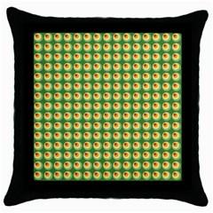 Retro Black Throw Pillow Case