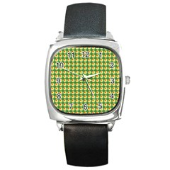 Retro Square Leather Watch