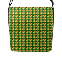 Retro Flap Closure Messenger Bag (large)