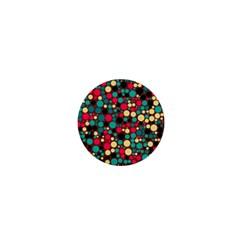 Retro 1  Mini Button Magnet