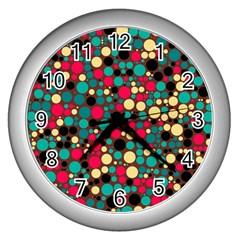 Retro Wall Clock (Silver)