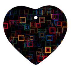 Retro Heart Ornament