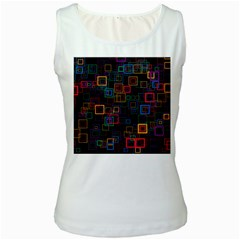 Retro Women s Tank Top (White)