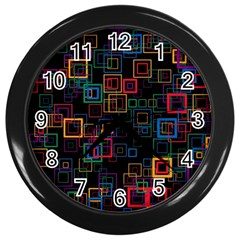 Retro Wall Clock (Black)