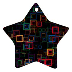 Retro Star Ornament (Two Sides)