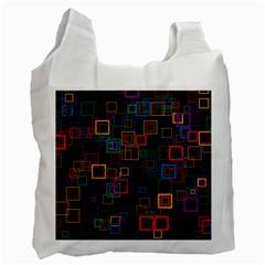 Retro White Reusable Bag (Two Sides)
