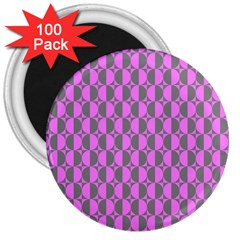 Retro 3  Button Magnet (100 pack)