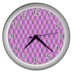 Retro Wall Clock (Silver)