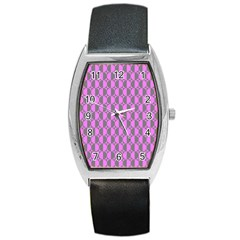Retro Tonneau Leather Watch