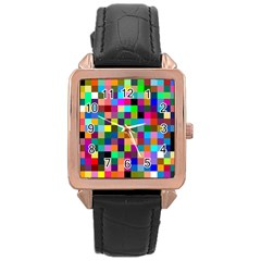 Tapete4 Rose Gold Leather Watch