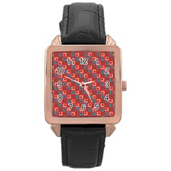 Retro Rose Gold Leather Watch