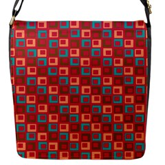 Retro Flap Closure Messenger Bag (Small)