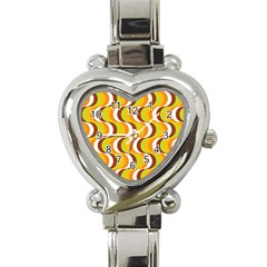 Retro Heart Italian Charm Watch