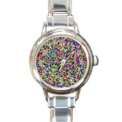 Color Round Italian Charm Watch