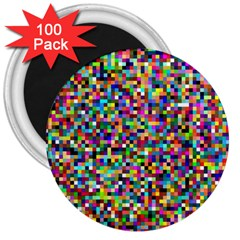 Color 3  Button Magnet (100 pack)