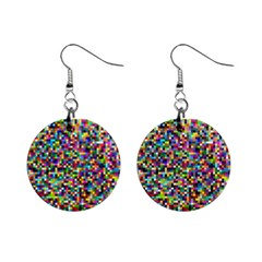 Color Mini Button Earrings
