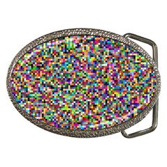 Color Belt Buckle (oval)