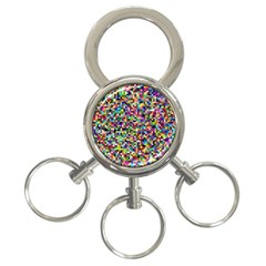 Color 3 Ring Key Chain