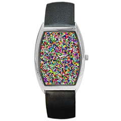 Color Tonneau Leather Watch