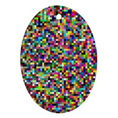 Color Oval Ornament (Two Sides)