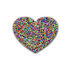 Color Drink Coasters 4 Pack (Heart)