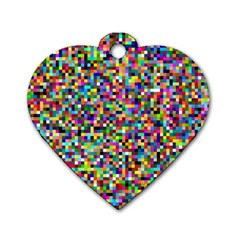 Color Dog Tag Heart (One Sided)