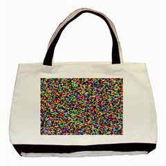 Color Twin Sided Black Tote Bag
