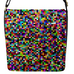 Color Flap Closure Messenger Bag (small)