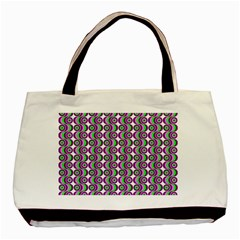 Retro Twin-sided Black Tote Bag