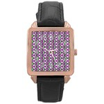 Retro Rose Gold Leather Watch  Front