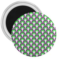 Retro 3  Button Magnet