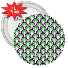 Retro 3  Button (10 pack)