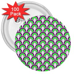 Retro 3  Button (100 pack)