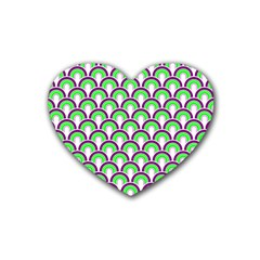 Retro Drink Coasters 4 Pack (heart)