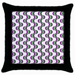 Retro Black Throw Pillow Case