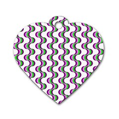 Retro Dog Tag Heart (Two Sided)