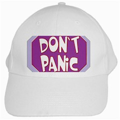 Purple Don t Panic Sign White Baseball Cap
