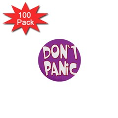 Purple Don t Panic Sign 1  Mini Button (100 pack)