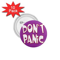 Purple Don t Panic Sign 1.75  Button (10 pack)