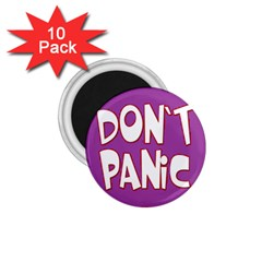 Purple Don t Panic Sign 1 75  Button Magnet (10 Pack)