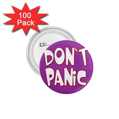Purple Don t Panic Sign 1.75  Button (100 pack)