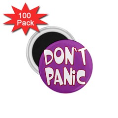 Purple Don t Panic Sign 1.75  Button Magnet (100 pack)