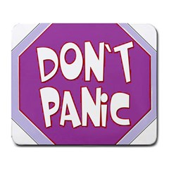 Purple Don t Panic Sign Large Mouse Pad (rectangle)