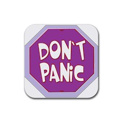 Purple Don t Panic Sign Drink Coasters 4 Pack (square)