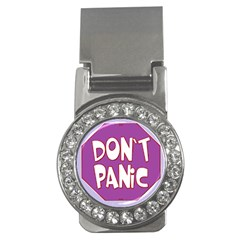 Purple Don t Panic Sign Money Clip (CZ)